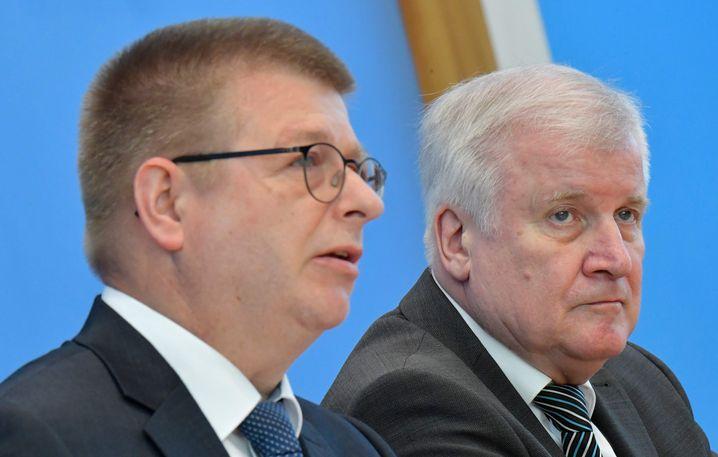 Thomas Haldenwang (l.) und Horst Seehofer