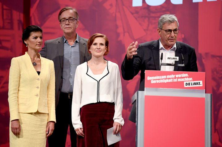 Wagenknecht, Bartsch, Kipping, Riexinger (von links)