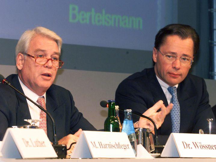 Middelhof mit Vorgänger Wössner (l.): Mit 45 Jahren Chef von Bertelsmann