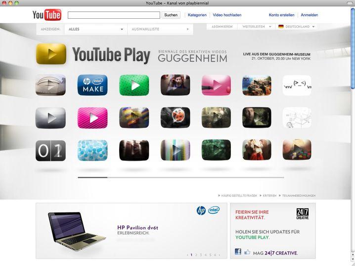 Screenshot YouTube Play - Guggenheim