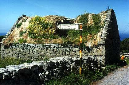 Inishmore Ruine: Auf dem alten Klostergelände liegen über 120 Heilige begraben