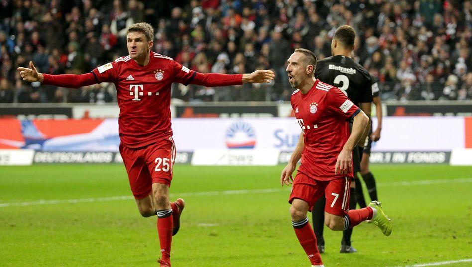Thomas Müller (l.), Franck Ribéry