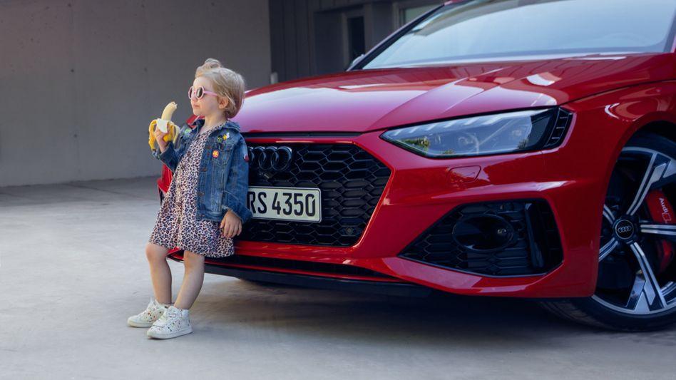"""Umstrittene Audi-Werbung (Ausschnitt): """"Wir entschuldigen uns aufrichtig für dieses unsensible Bild"""""""