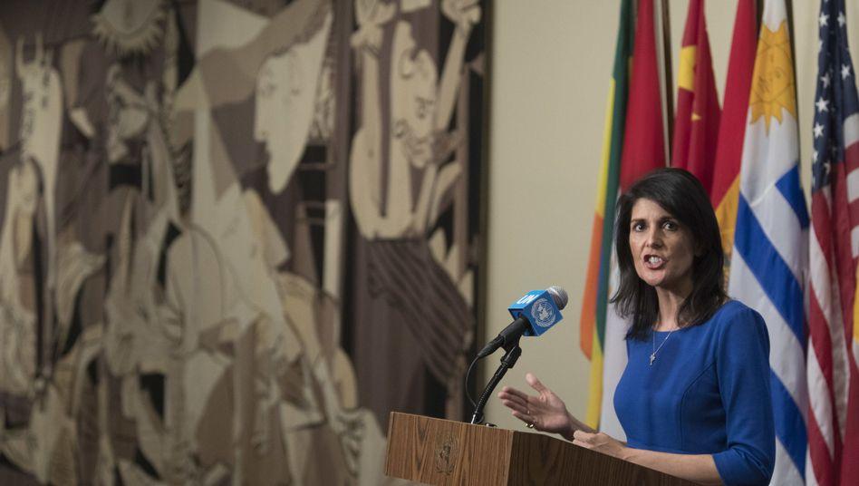 Uno-Botschafterin Nikki Haley