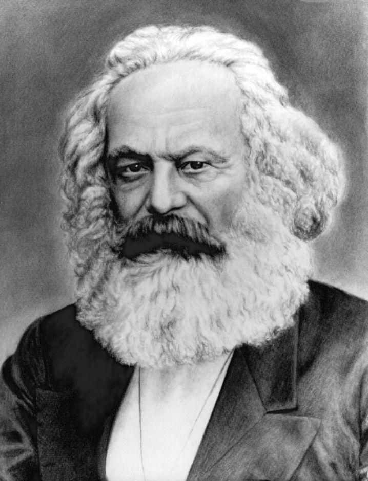 Karl Marx auf einer undatierten Zeichnung
