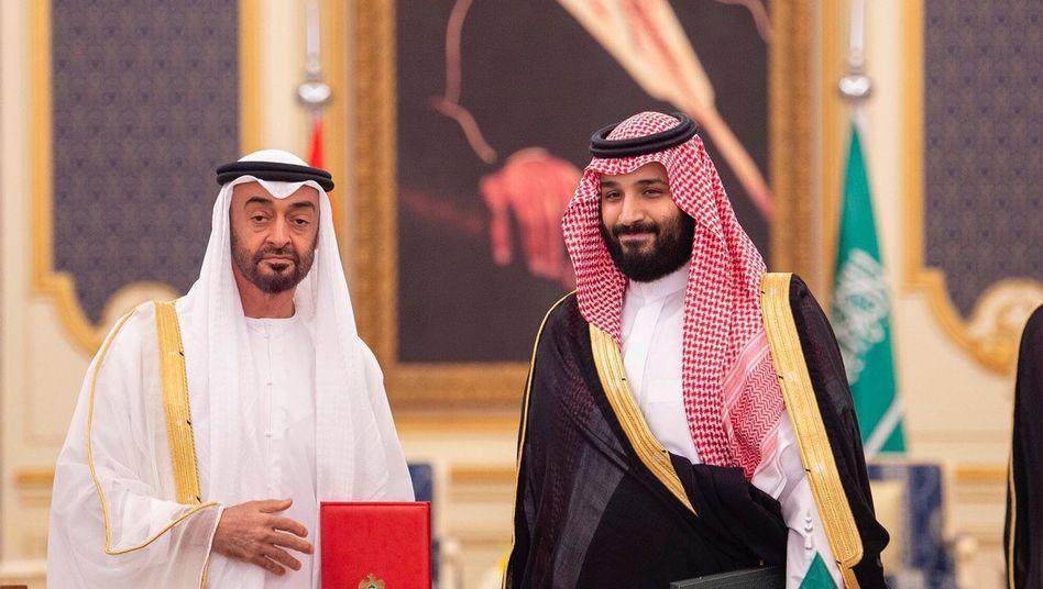 Mohammed bin Zayed, Kronprinz von Abu Dhabi und Mohammed bin Salman, Kronprinz von Saudi-Arabien: Zurückhaltung am Golf