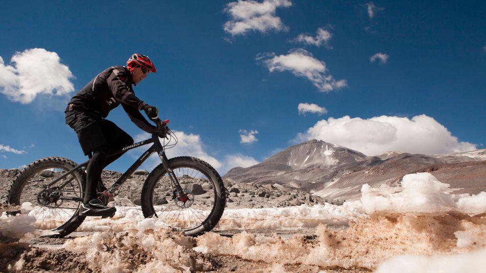 Vulkan in Chile: Deutscher stellt Höhenrekord mit Rad auf