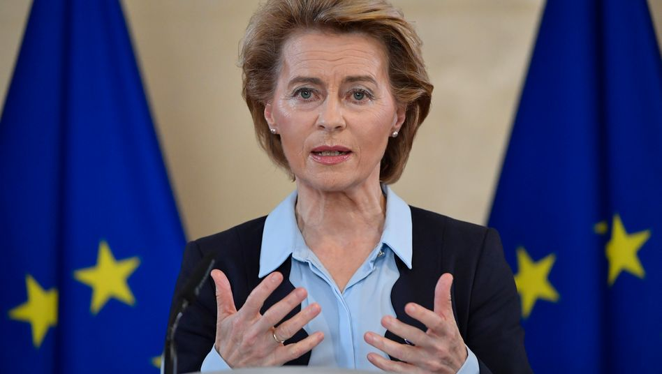 """EU-Kommissionspräsidentin Ursula von der Leyen: """"Mit jedem Tag, den wir verlieren, werden wir sehen, wie Menschen ihre Jobs verlieren und Unternehmen pleitegehen"""""""