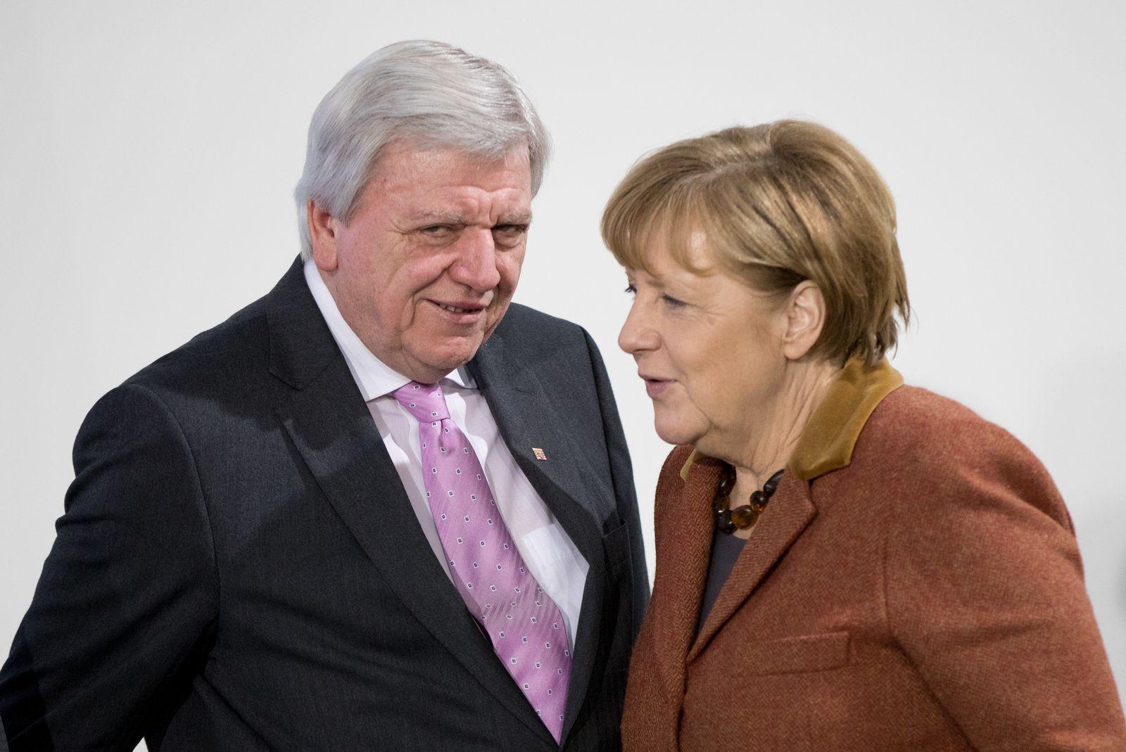 Angela Merkel/ Volker Bouffier