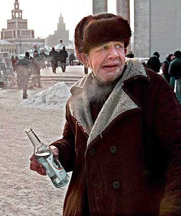 Wodkatrinker in Moskau: Lebenserwartung von nur 61 Jahren