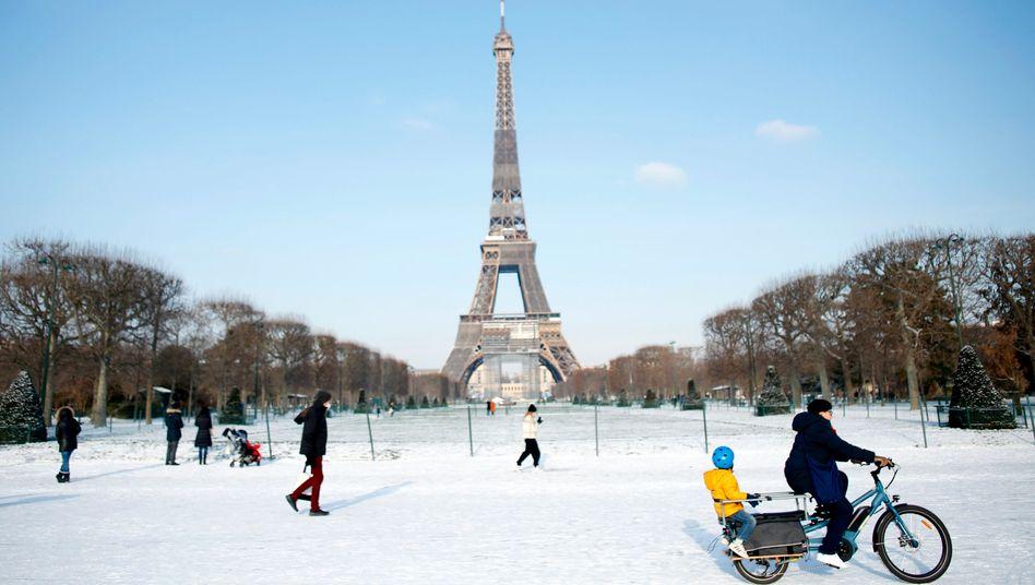 Wintereinbruch in Frankreich: Bis Freitag sind in Paris Temperaturen um den Gefrierpunkt vorhergesagt