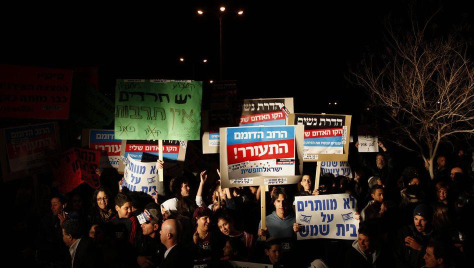 Israel: Tausende protestieren gegen Ultraorthodoxe