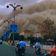 100 Meter hoher Sandsturm fegt durch Dunhuang