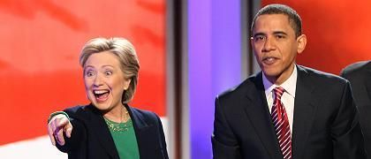 Rivalen Clinton und Obama: Entscheidung in New Hampshire?