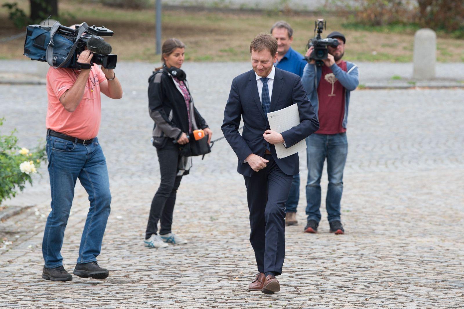 Ministerpräsident Kretschmer in Hoyerswerda