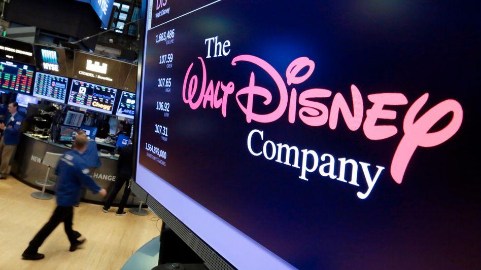 Walt-Disney-Logo auf einem Bildschirm an der New Yorker Börse