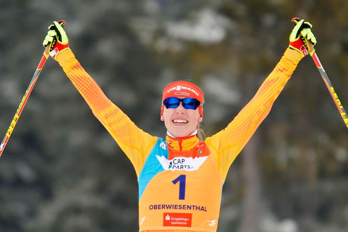 Jenny Nowak beim Junioren-WM-Gold im Januar 2020
