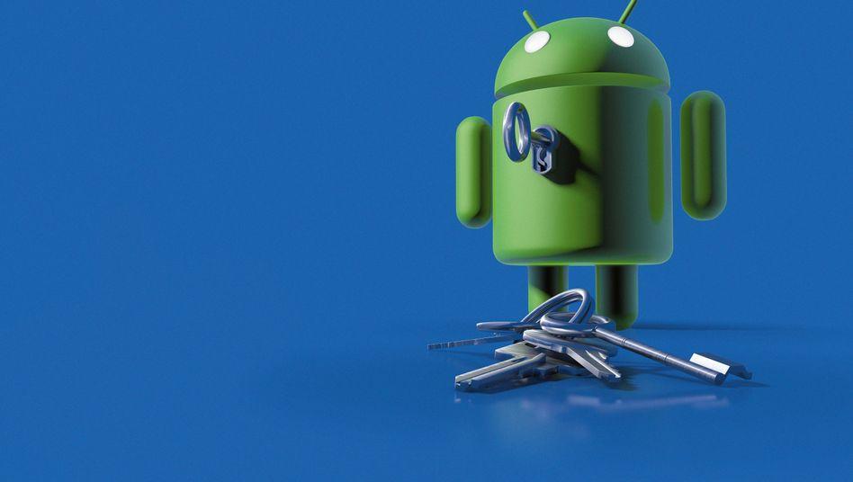 Android-Maskottchen: Das Google-Betriebssystem müssen Nutzer selbst absichern