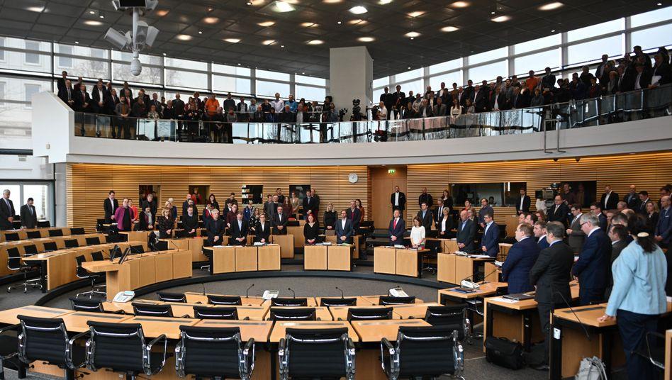 Der Landtag von Erfurt: Drei Wahlgänge waren nötig, um Bodo Ramelow zum Ministerpräsidenten zu wählen