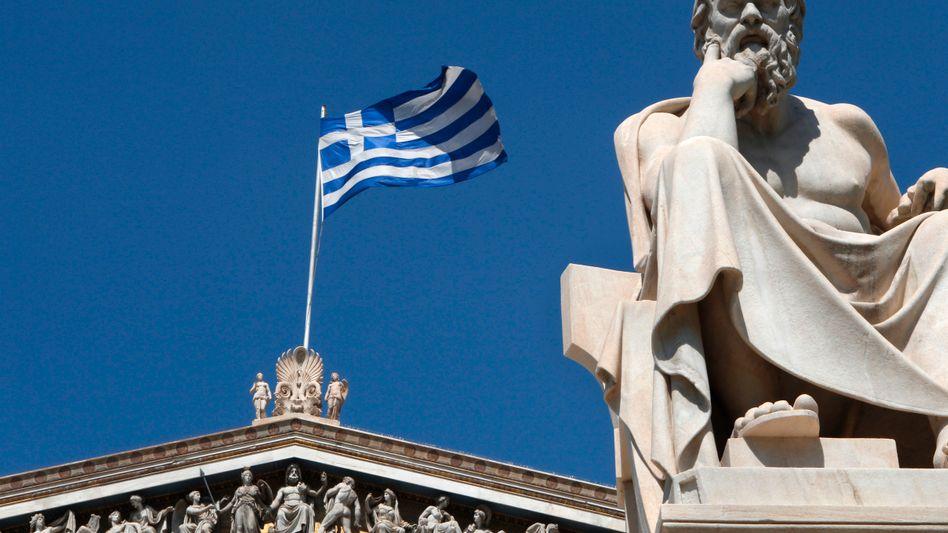 Griechische Flagge: Hoffnung auf neues Rettungspaket