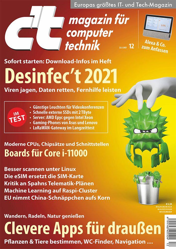 c't 12 2021 cover