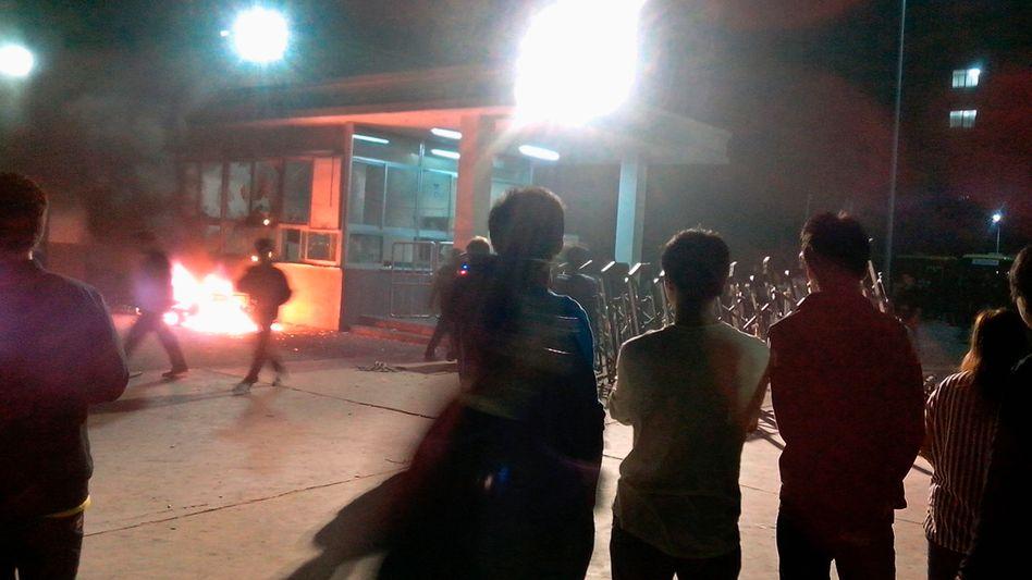 Proteste am Foxconn-Werk in Taiyuan