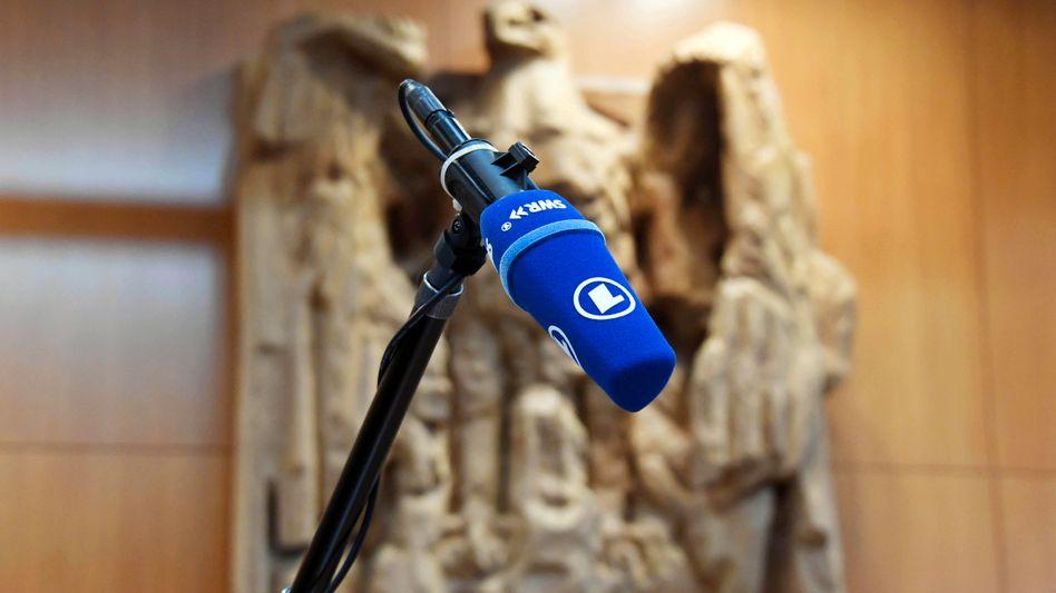 ARD-Mikro im Bundesverfassungsgericht (Symbolbild): Die Dämmerung ist abgesagt
