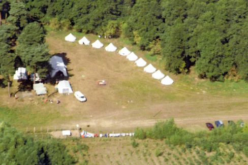 A police handout photo from August 2007 shows a neo-Nazi summer camp run by the HDJ near Rostock.