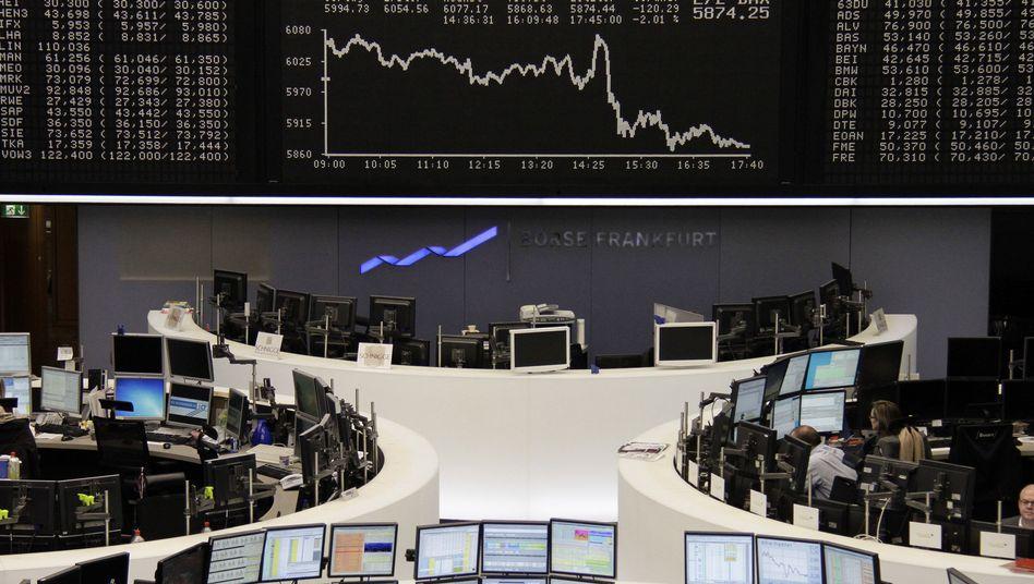 Börse in Frankfurt: Merkel will die Finanzmarktsteuer
