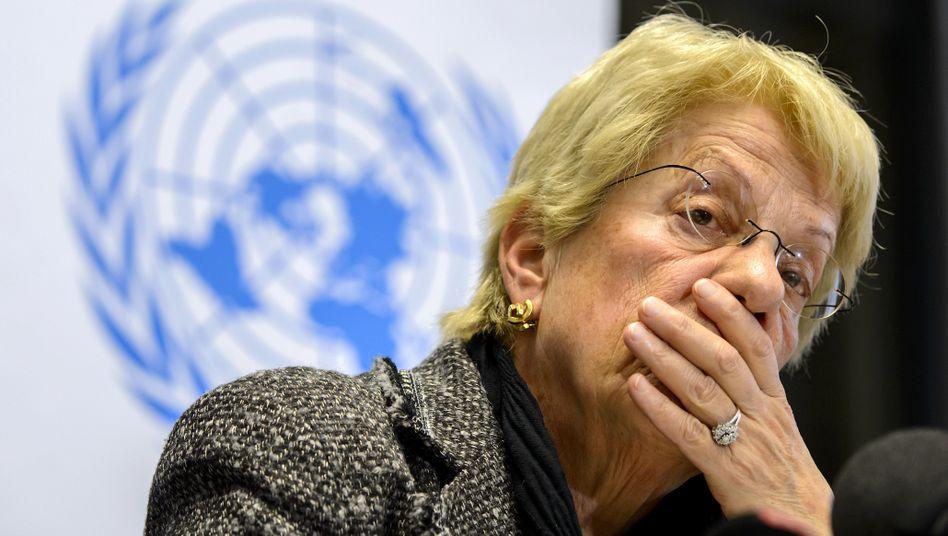 """Del Ponte: """"Noch keinen unbestreitbaren Beweis"""" für Chemiewaffen-Einsatz der Opposition"""