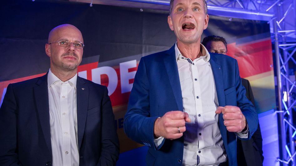 """""""Flügel""""-Organisatoren Andreas Kalbitz und Björn Höcke: Als Rechtsextremisten eingestuft."""