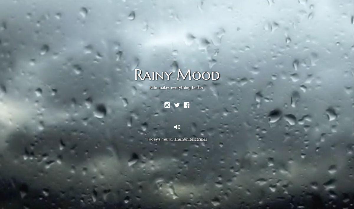 NUR ALS ZITAT Screenshot Musik am Arbeitsplatz/ Rainy mood