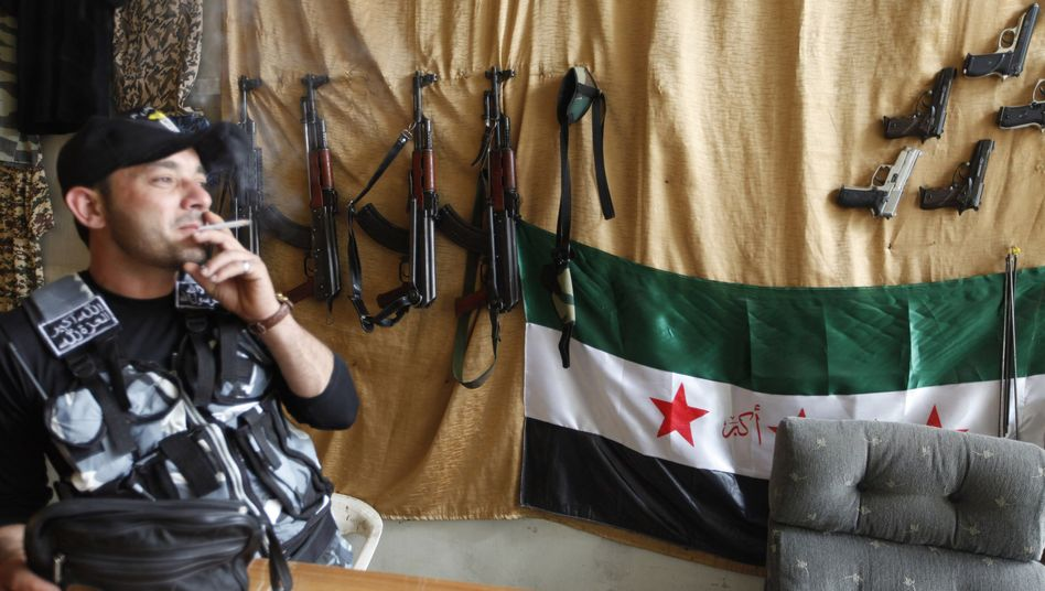 An arms dealer in Aleppo: The West is reluctant to send weapons despite rebel pleas.