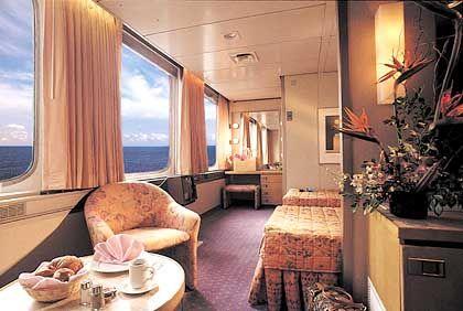 """Suite der """"Norway"""" Bis zu 2032 Passagiere können auf dem Luxusschiff untergebracht werden"""