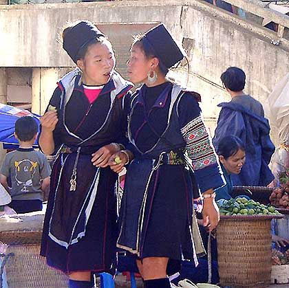 Schwarze-Hmong-Mädchen: Souvenir-Business für sich entdeckt