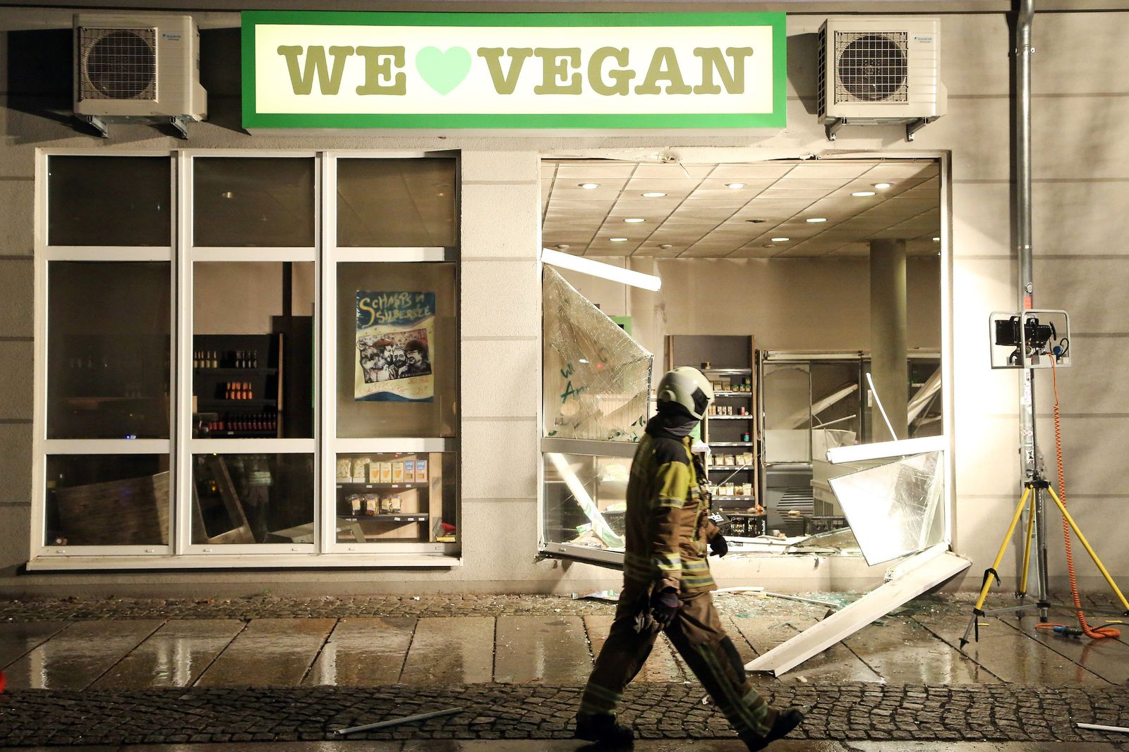 Explosion in Supermarkt in Dresden