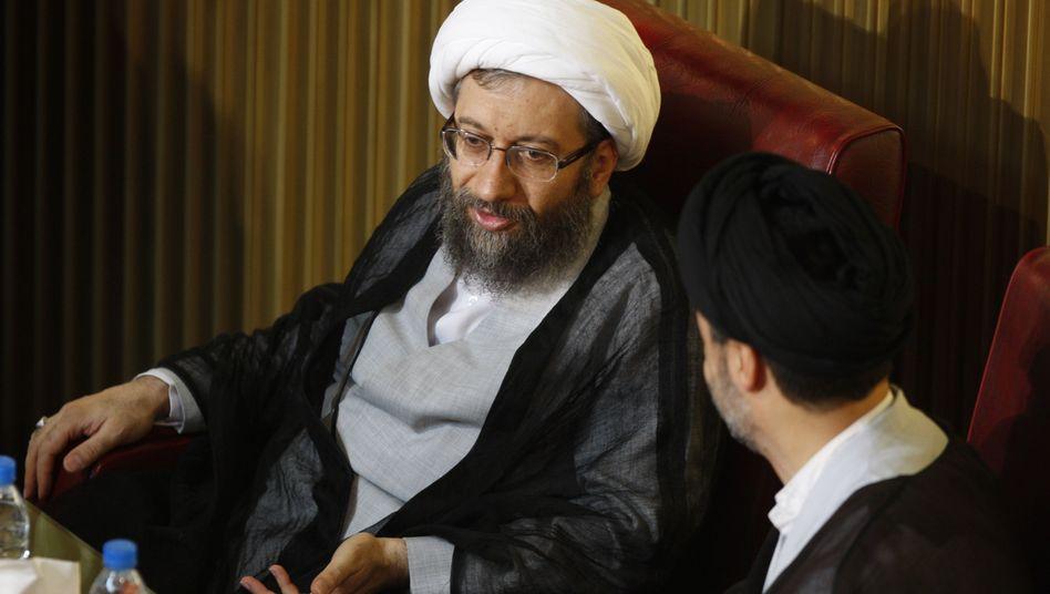Justiz-Chef Sadegh Laridschani: Er wirft dem Westen Arroganz vor