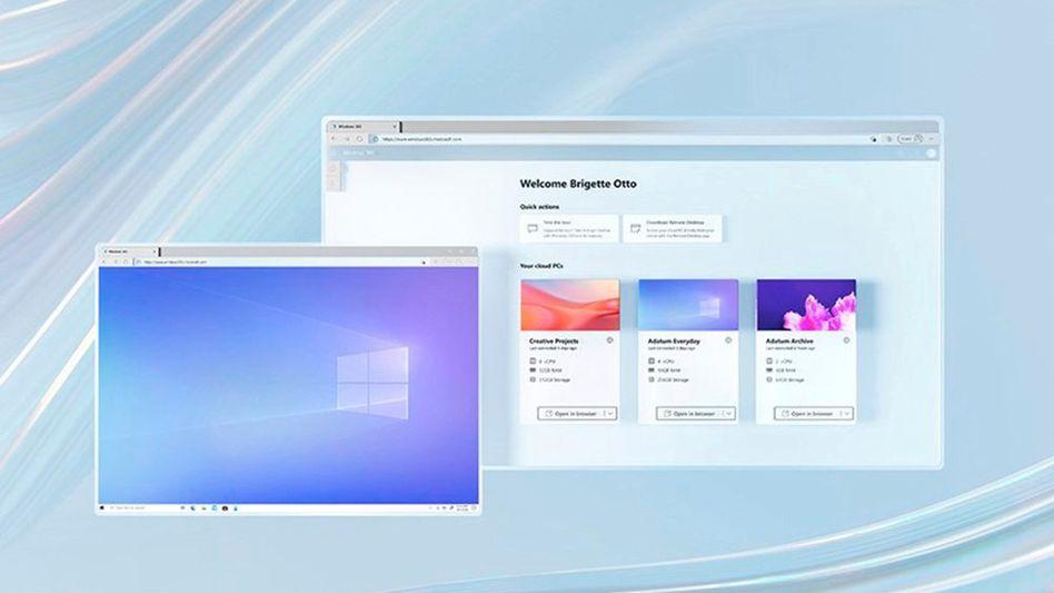 Der normale Windows-Desktop, aber in der Cloud