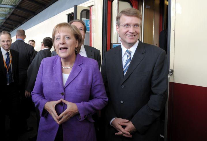 Mit Kanzlerin Merkel im Wahlkampf 2009