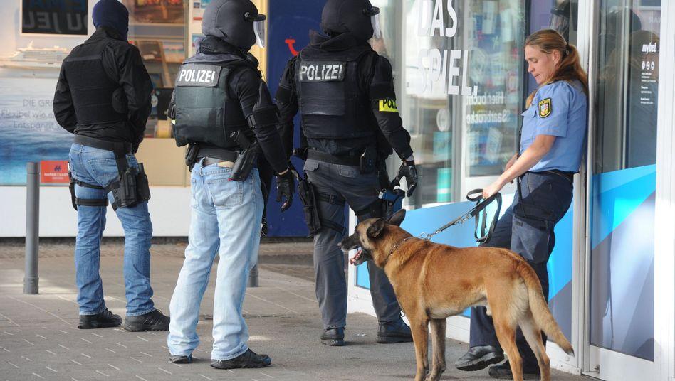 Polizisten in Saarbrücken