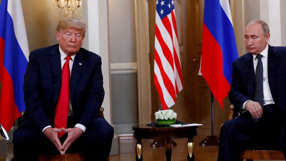 US-Präsident Trump, Russlands Staatschef Putin (Im Juli 2018):