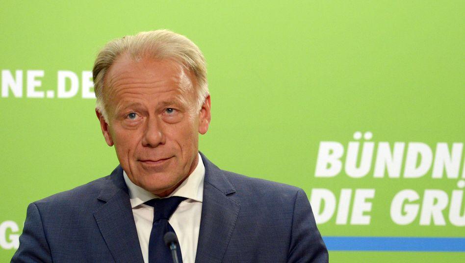 Der Grünen-Spitzenkandidat Trittin: Dämpfer für die Grünen