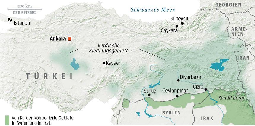 Karte Kurdengebiete 01.2016