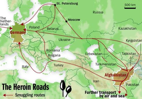 Graphic: The Heroin Roads