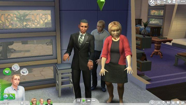 """Kuriose Spielszenen: Wenn Obama mit Putin in """"Die Sims 4"""" Schach spielt"""