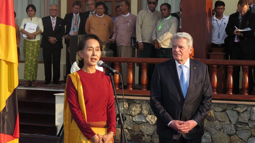 Bundespräsident Gauck: Großer Auftritt in Burma