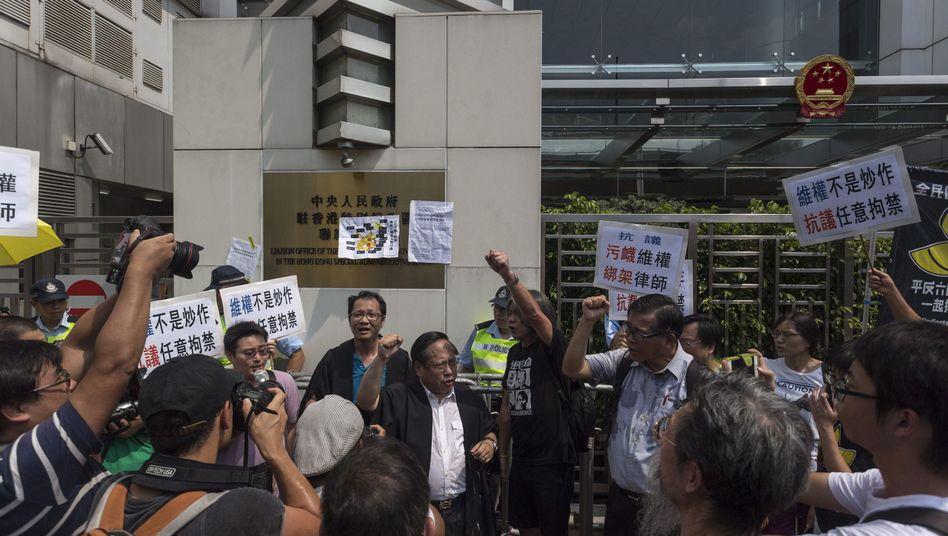 Demonstranten in Hongkong: Fordern Freilassung von Anwälten