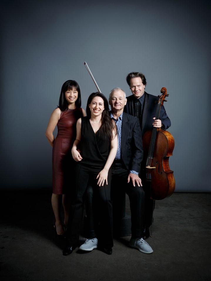 Hausmusik-Zirkel: Mira Wang, Vanessa Perez, Bill Murray und Jan Vogler