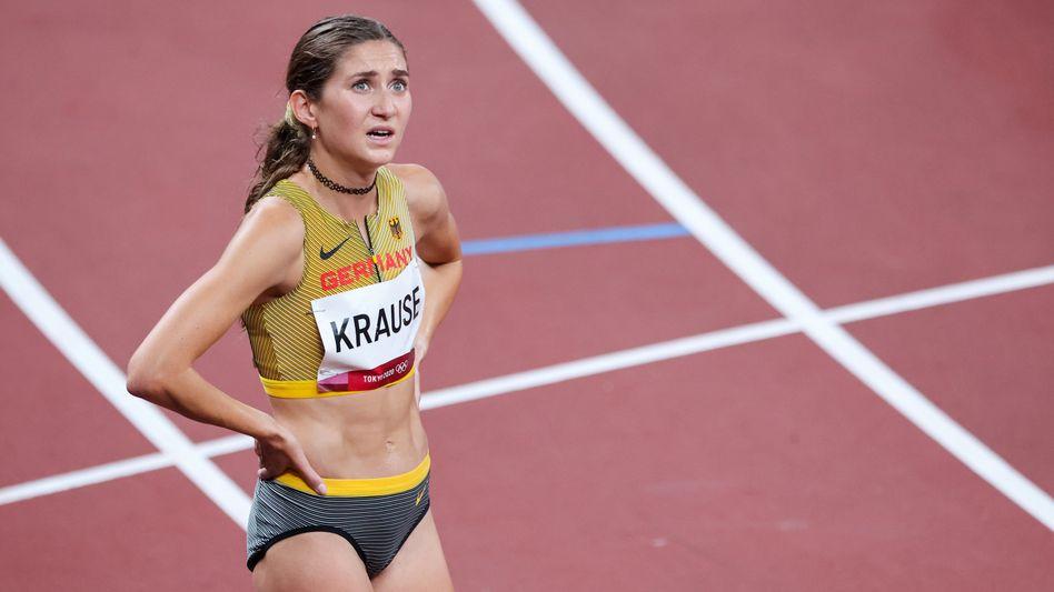 Gesa Krause nach dem Rennen über 3000 Meter: »Ein weinendes Auge ist dabei«