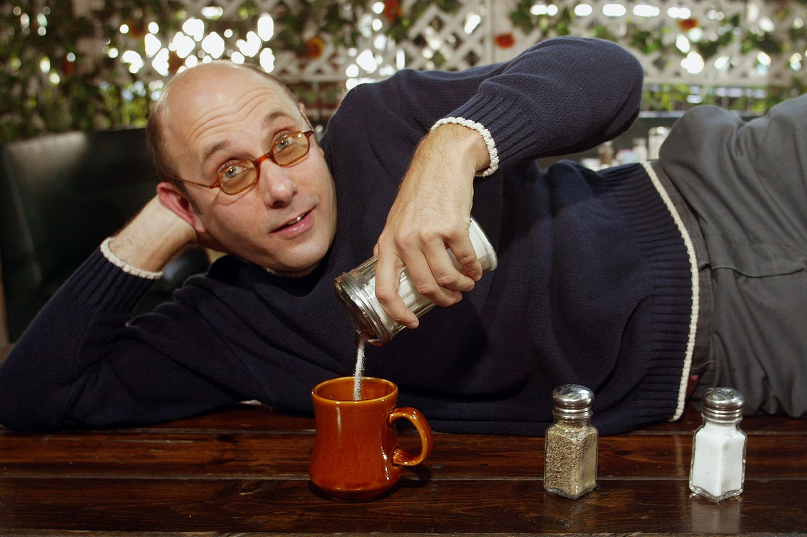 Willie Garson of Sex in the City who was having a spot of tea in Hollywood.